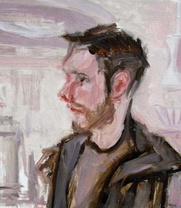 Ryan, serving Joe at Cafe Caffeine