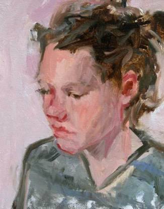 I painted Kelsey at Epoch Coffee House as she was applying to Colleges.