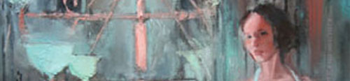 """Detail of the painting, """"Myra's Labyrinth"""""""